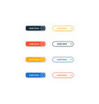 set read more modern flat buttons for vector image vector image
