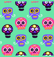 skull dia los muertos seamless pattern vector image