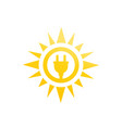 solar energy icon on white vector image vector image