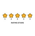 star rate 5 review icon five star rate vector image