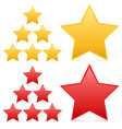 star set yellow red version vector image
