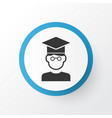 student icon symbol premium quality isolated vector image