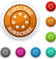 Subscribe award vector image vector image