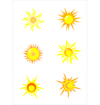Suns Elements for design vector image