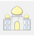 taj mahal india icon cartoon style vector image