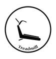 Treadmill icon vector image