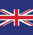 union jack united kingdom flag vector image vector image