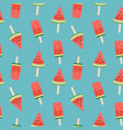 watermelon ice cream seamless pattern background vector image vector image