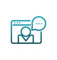 website people chat bubble communications gradient vector image