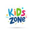 kids zone emblem vector image