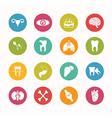 Human anatomy icons set Circle Series - eps10 vector image