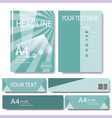 Abstract Geometric template design template vector image