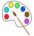 brush and paints vector image
