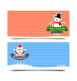 042 Merry Christmas banner background Collection vector image vector image