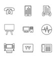 9 display icons vector image vector image
