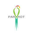 a parrot design on white background bird icon vector image vector image