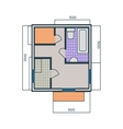 Apartments Plan in Flat Style vector image