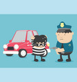 arrest police officers who are arrested car vector image