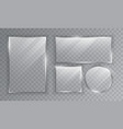 assorted shaped sheets transparent glass vector image