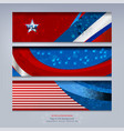 banner of american vector image vector image