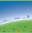 beijing skyline aerial view vector image