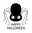 black spider silhouette cute cartoon kawaii baby vector image vector image