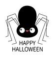 black spider silhouette cute cartoon kawaii baby vector image