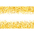 border with shimmer stars gold sparkle vector image
