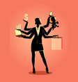 business concept for multitasking vector image