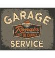 Car service vintage signboard vector image vector image