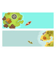 cartoon tropical brochure exotic island in ocean vector image vector image