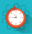 clock time around arrow concept vector image