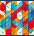 colored mosaic pattern vector image vector image