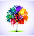 colorful tree background vector image