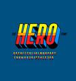 comics superhero style font vector image vector image