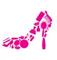 cosmetic shoe vector image vector image