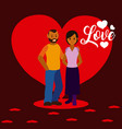 couple love cartoons vector image