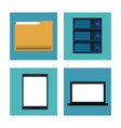 database and hosting icons vector image vector image