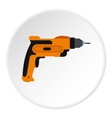Drill icon flat style vector image vector image