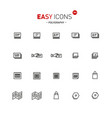 easy icons 38a polygraphy vector image vector image