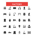 factory thin line icons linear flat vector image