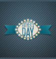 fathers day realistic banner with ribbon vector image vector image
