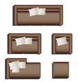 Furniture top view set 28 vector image vector image