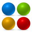 glossy 3d balls vector image