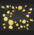 gold money explosion vector image
