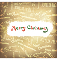 golden multilingual greetings christmas background vector image vector image