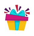 happy birthday gift box design template for vector image vector image