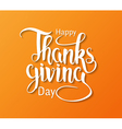 Happy Thanksgiving hand drawn calligraphy vector image vector image