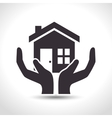 house insurance house hand protection design vector image