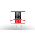ib i b logo letters with red and black colors and vector image vector image